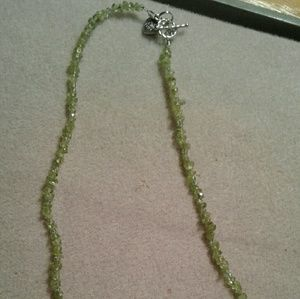 Jewelry - Genuine peridot chips/chunks birthstone necklace